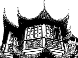 Asian Roof 02 by Petite-Dionee