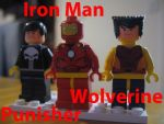 Custom LEGO Marvel Punisher Iron Man Wolverine by Digger318