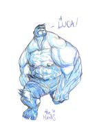 Lucca Sketch_Hulk by alessandromicelli