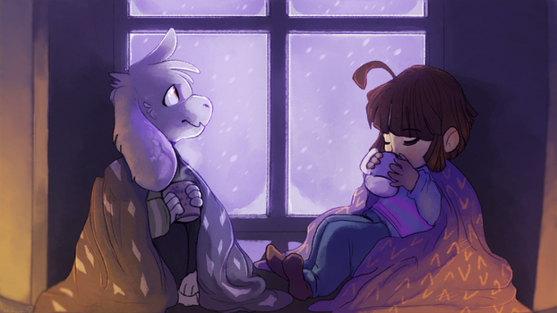 Lazy winter kids (SPOILERS FOR TRUE PACIFISTEDNGIN by WindBirds
