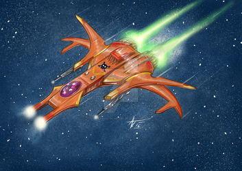 another space fighter..     ahhh.. cathartic :D by alexvontolmacsy