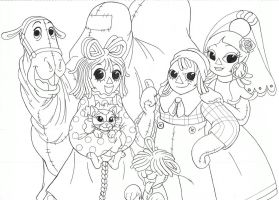 A Raggedy gang by jmkplover