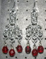 Chainmaille Earring 91 by Des804