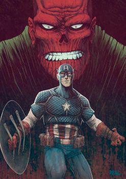 Cap and Red Skull by Fuacka