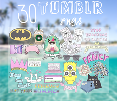 30 Tumblr Pngs by PamTutorials