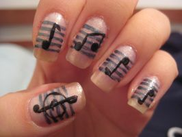 Music note nails by xsheervanilla