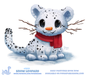 Daily Paint 1855# Snow Leopard by Cryptid-Creations