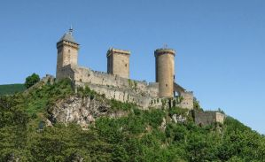 Ariege 023 - Castle of Foix by HermitCrabStock