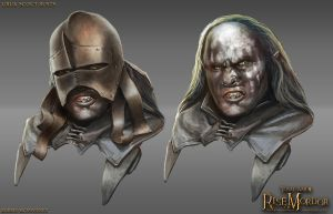 Uruk-Hai Scout Busts by RobbieMcSweeney