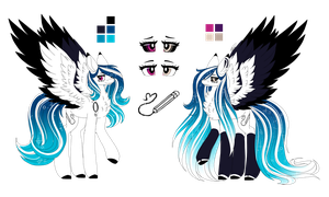 Marie Pixel Reference Sheet 4.0 :Main OC: by InspiredPixels