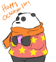 We Bare Bears: Panda october 1st by PixelSparrow