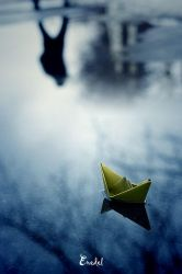 Paper Boat 3 by Eredel