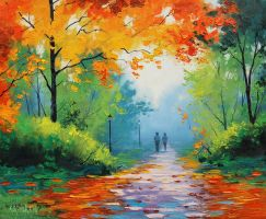 Path through the Park by artsaus