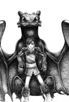 Hiccup and Toothless by Zinfer