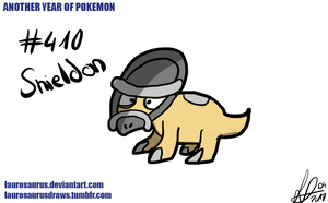 Another year of pokemon: #410 Shieldon