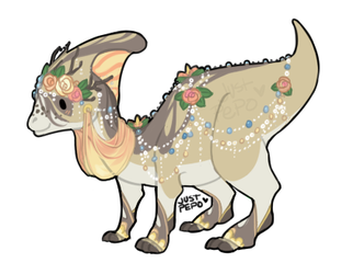 Spring Fairy Parasaurolophus : 15USD Pypl : CLOSED by JustPepo