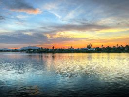 Waterfront, Kuching by dirtkoll