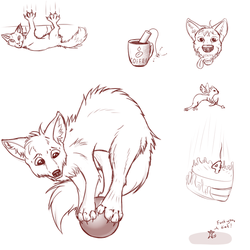 Birthday shitscribbles by RaptorAnton
