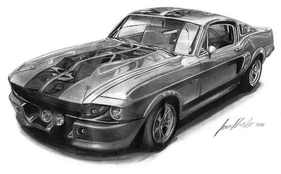 Mustang GT 500 Eleanor by Lowrider-Girl