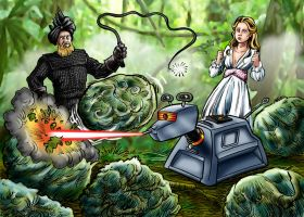 K9 vs Wolf Weeds by Loneanimator