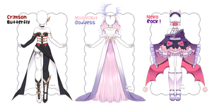 [closed] Fantasy Outfit Adopts | Auction by Black-Quose