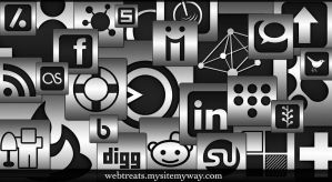 Silver Social Media Icons by WebTreatsETC
