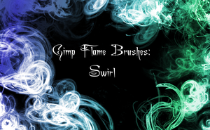 Gimp Flame Swirl Brushes by PigMasterOra