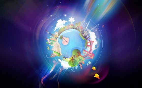 Smiling at the World Wallpaper by chicho21net