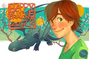Happy Year of the Dragon 2012 by flominowa