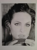 Angelina Jolie Pencil Portrait by SamanthaMessias