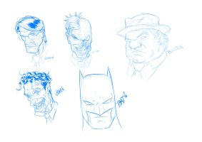 Gotham Character Study Scketches by azzh316