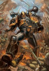 WH40K: Chaos Marine by jeffszhang