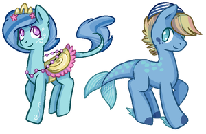Sea themed adoptables - CLOSED by Loser-Derpy