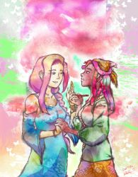 Fluttershy and Tree Hugger by icqgirl