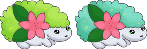 Two Little Shaymin by SALBP