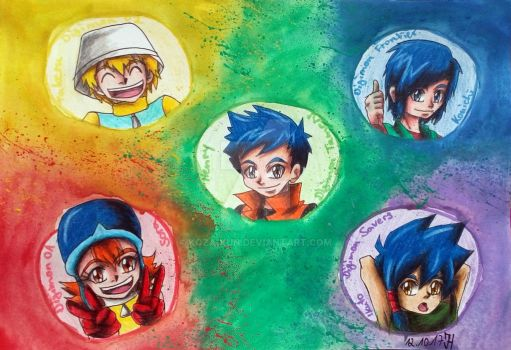 My Top 5 Digidestined by Koza-Kun