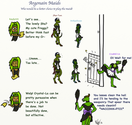 Argonian Maids by kayly101