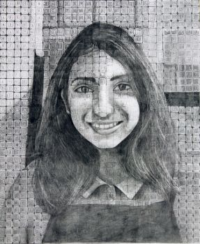 Gridded portrait by RockyRoni
