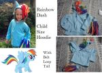 Rainbow Dash kid hoodie finished by ShelandryStudio