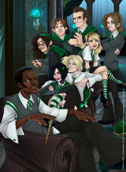 Slytherin Commons by Javadoodle