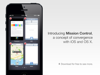 Redesigning the iOS App Switcher: Mission Control by theIntensePlayer