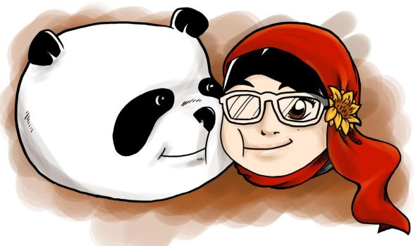 Pandaman Me . Cheek Fight by Gitchgitch