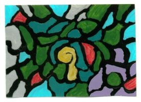ACEO - Stained Glass 1 by wiyaneth