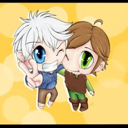 Chibis Jack and Hiccup by 7Tuchi