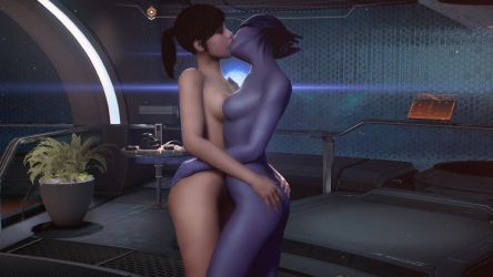 First Girl On Girl Action In The Andromeda Galaxy by Rastifan