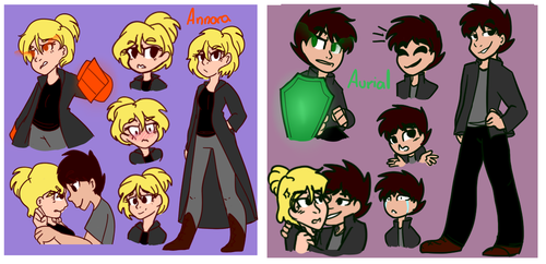 Annora and Avrial Ref sheet by MarianaSpaghetti