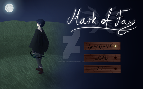 Mark of Fay (title screen, game concept) by DrawingSpyro