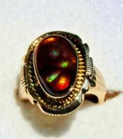 MENS FIRE AGATE RING by FlagstaffTraders