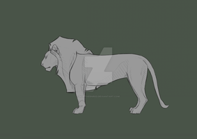Lion base + .PSD by NorthernRed