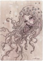 Flower ghost by pearleyed